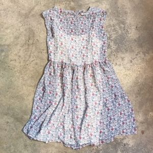 Madewell Sharon Floral Tie Back Floral Minidress